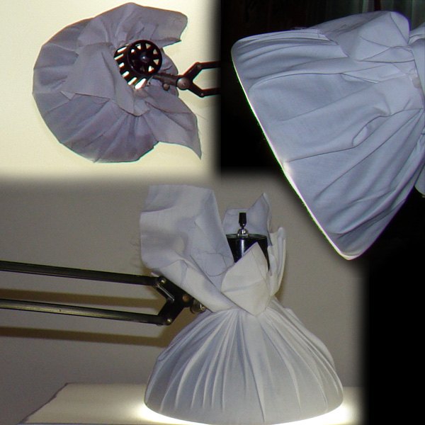 Lamps with fabric diffusers