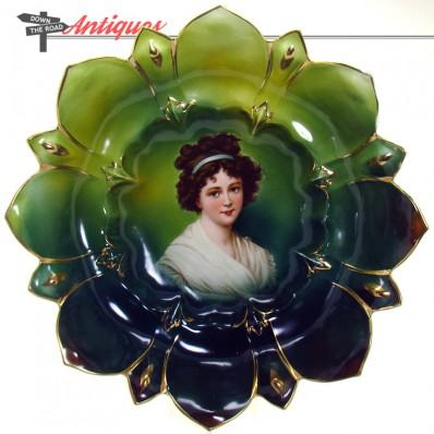 R. S. Prussia Lebrun portrait porcelain bowl