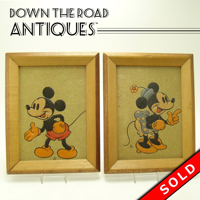 Walt Disney Enterprise Mickey and Minnie Mouse Embossed Framed ...