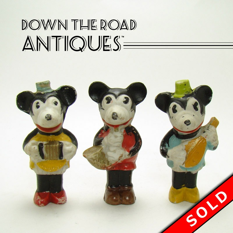 Bisque Walt Disney Mickey and Minnie Mouse Musician Figurines | DTR ...