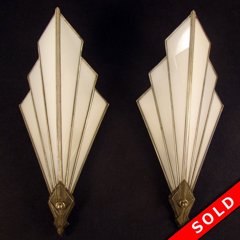Art Deco Theater Style Lamps Dtr Antiques