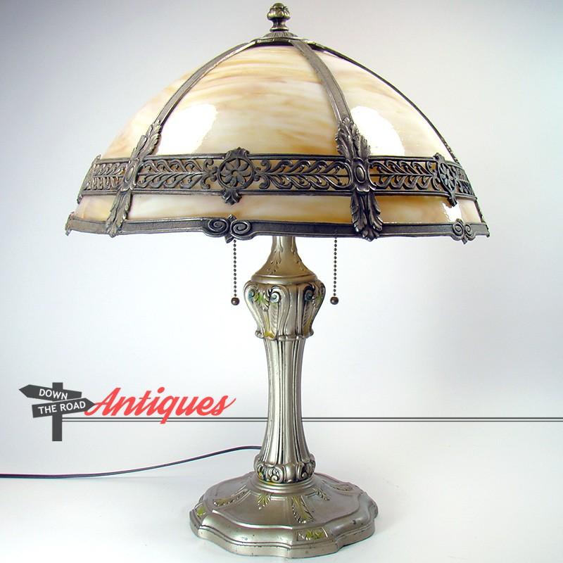 Lamp C1920's Electric Table Filigree Panel All Original Carmel VzpGMSqU
