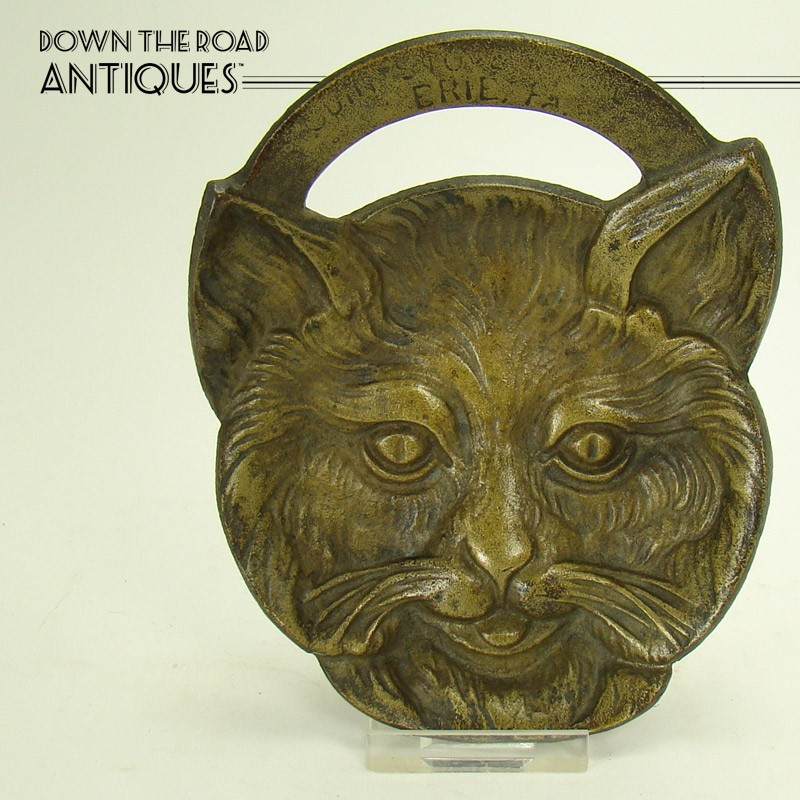 Solid Brass Pin Tray - Odin Stove Manufacturers Cat Head - Erie, PA - 1910