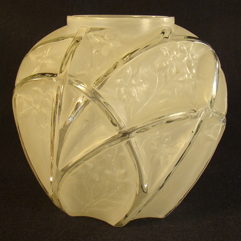 Consolidated Art Deco Glass Vase Dtr Antiques