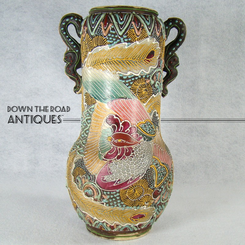 Large Satsuma Porcelain Vase Dtr Antiques