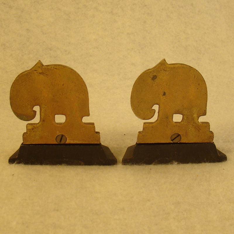 Iron and Brass Elephant Bookends (SOLD)