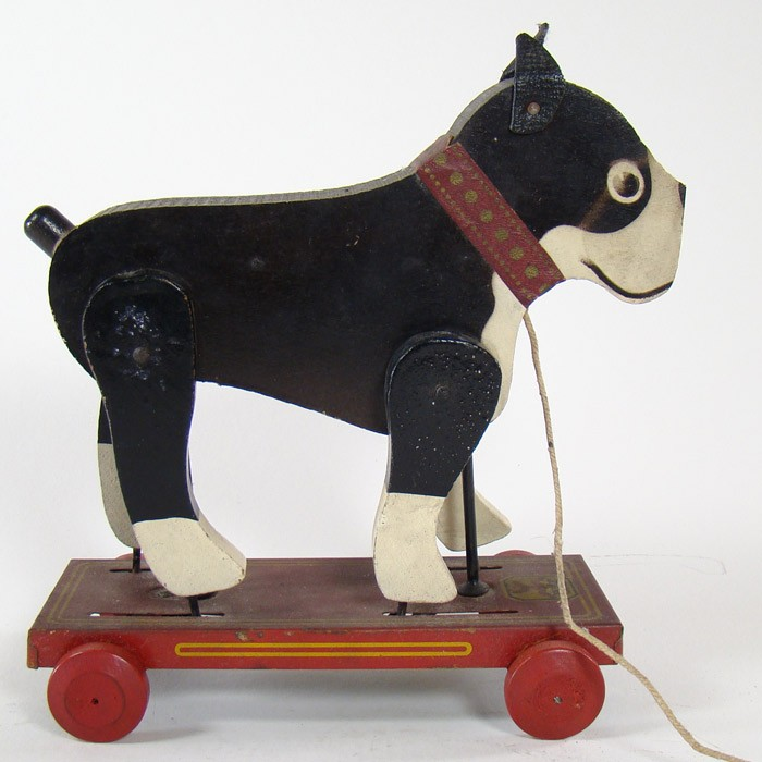 Toys For Legs : Boston terrier pull toy with moving legs dtr antiques