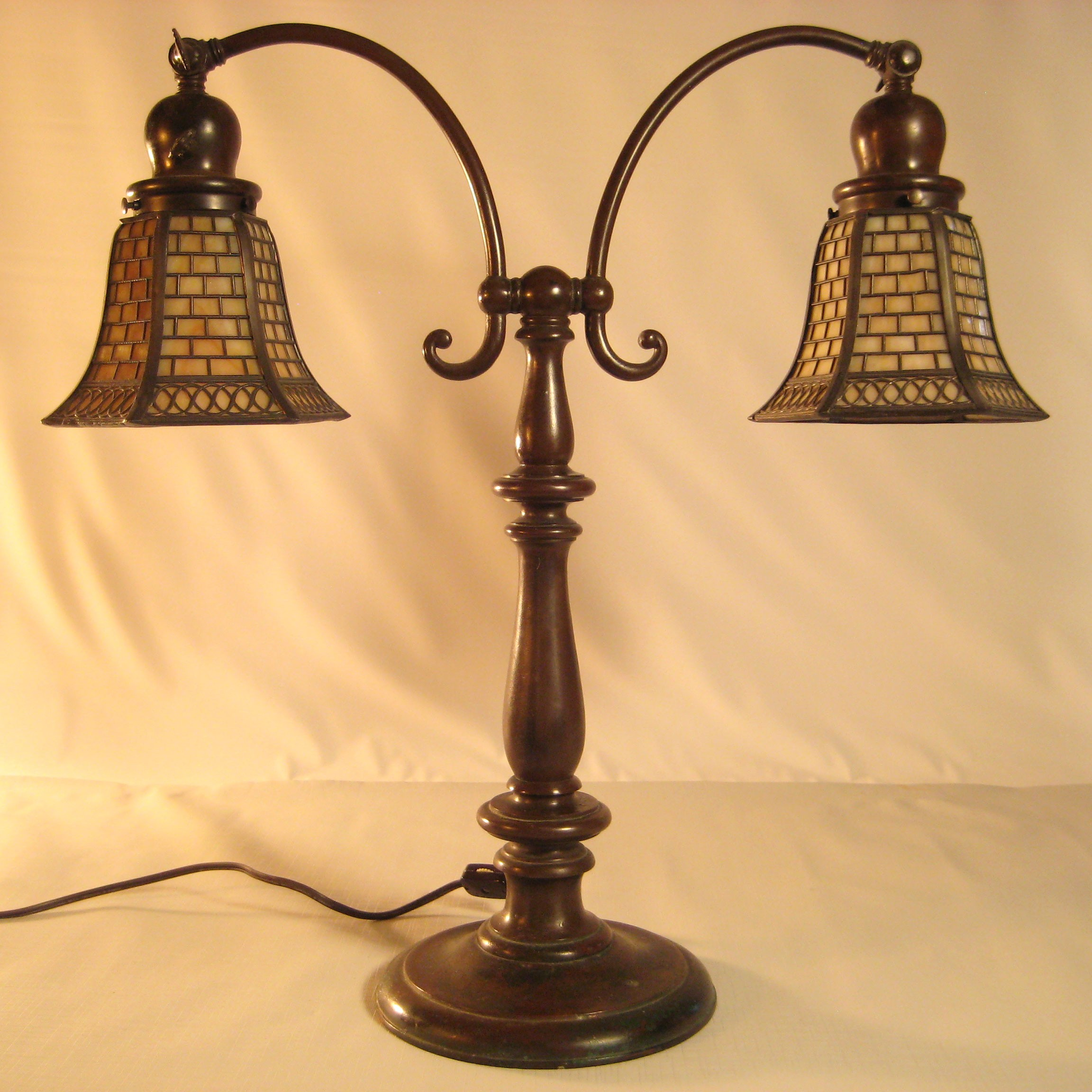 Handel Double Arm Student Lamp Dtr Antiques