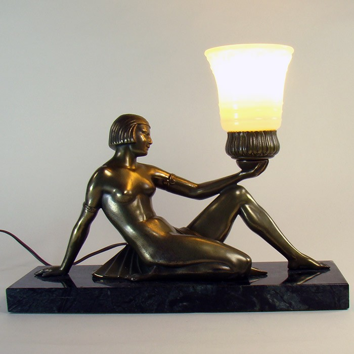 Art deco nude female lamp for sale in canada