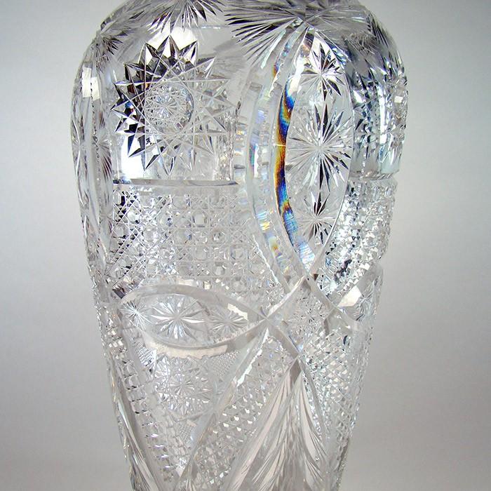 Large American Brilliant Period Cut Glass Vase Dtr Antiques