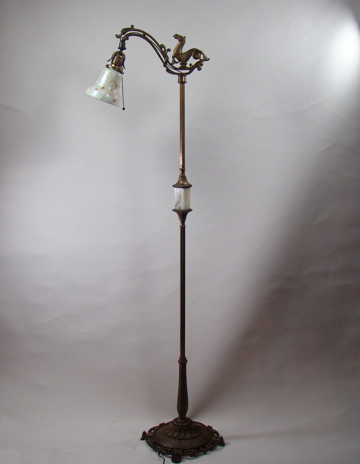 Rembrandt Iron And Brass Arts Amp Crafts Floor Lamp With