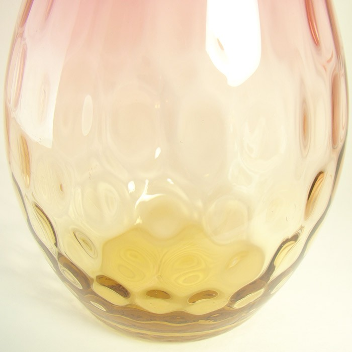 Amberina Glass Vase With Inverted Thumbprint Design Dtr Antiques