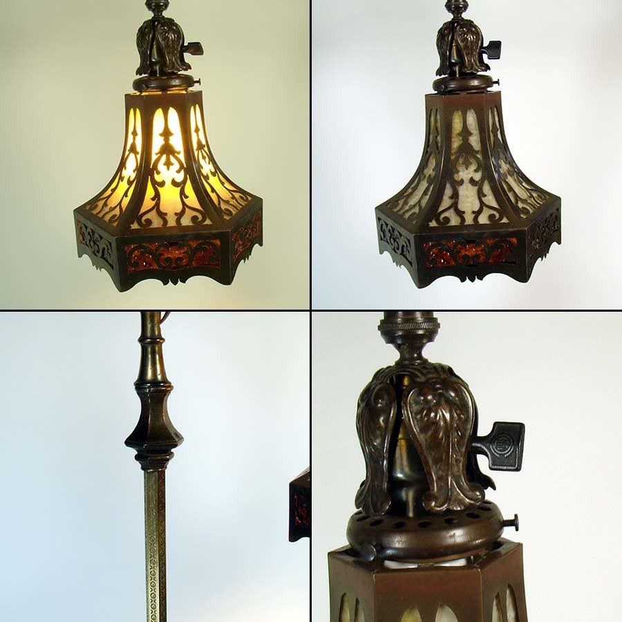 Rembrandt Floor Lamp With Sea Horse And Lizard Pierced