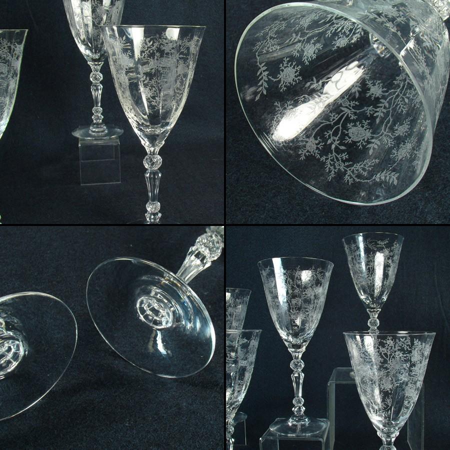 cambridge rosepoint glass stemware set dtr antiques. Black Bedroom Furniture Sets. Home Design Ideas