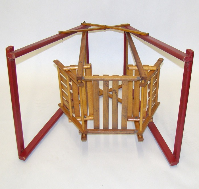 how to make a miniature swing set