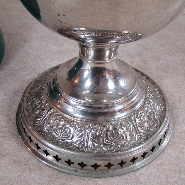 Bradley Amp Hubbard Nickel Plated Kerosene Lamp Dtr Antiques