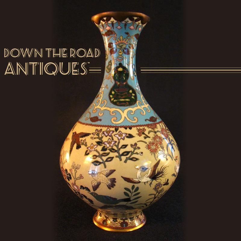 Japanese Cloisonn Vase 1890s Dtr Antiques