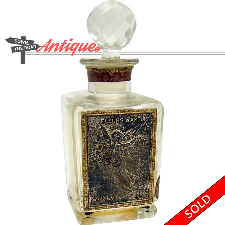 Cut Glass French Perfume Bottle Dtr Antiques