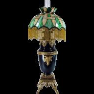 Cranberry /& Clear Glass #18 Dollhouse Miniature Pedestal Bowl