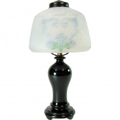 Hand-Painted Reverse-Painted Electric Boudoir Lamp - 1920's