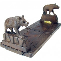Black Forest Carved Bear Expandable Book Holder - 1920's
