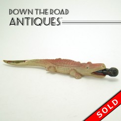 Celluloid Alligator Eating Black Boy Pencil Souvenir - Jacksonville, Florida