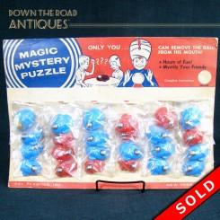 Magic Mystery Puzzle toy store display black memorabilia