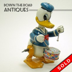 Donald The Drummer Tin Wind-up Toy