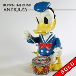Marx Donald Duck The Drummer Wind-up Toy