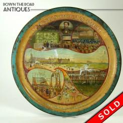 Tin souvenir tray of Young's Ocean Pier, 1907