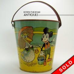 Unlicensed Disney Tin Sand Pail