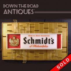 Schmidt's Beer Advertising Bar Display Light
