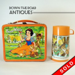 Disney Snow White and Seven Dwarfs Aladdin Tin Lunch Box and Thermos