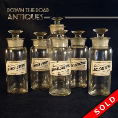 Glass Apothecary Jars (SOLD)