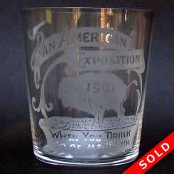 Pan American Exposition Whiskey Glass - Buffalo, NY Souvenir (SOLD)