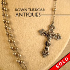 Hand Chased Sterling Rosary (SOLD)