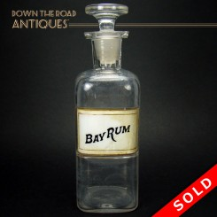 Bay Rum Glass Apothecary Jar