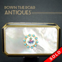 Coro Mother of Pearl and Enamel Compact
