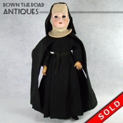 German Porcelain Nun Doll, Revalo