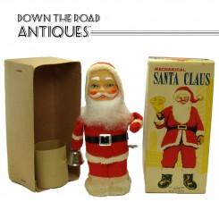 Alps mechanical Santa Claus Christmas wind-up toy with the original box