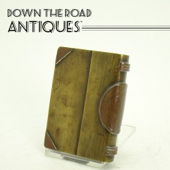 Trench Art Military Brass & Copper Book Lighter - Folk Art