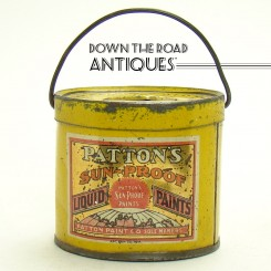 Tin Advertising Bank - Patton's Sunproof Liquid Paint