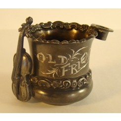 Silver Plated Toothpick Holder - Cello and Top Hat - 1880's