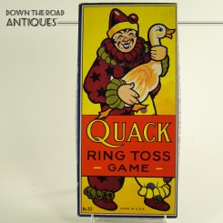 Quack Ring Toss Game with Clown and Duck - 1930's