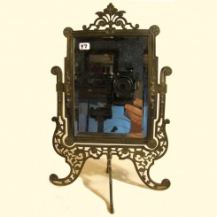 Ornate Bronze Pedestal Mirror - 1860's