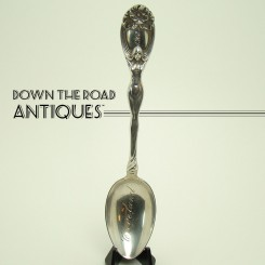 Unger Bros. Figural Souvenir Spoon from Cleveland - 1908
