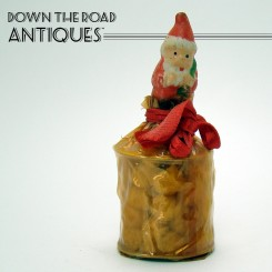 Bisque Christmas Candy Container Depicting Santa Claus