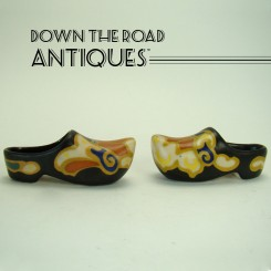 Gouda Miniature Dutch Souvenir Shoes - 1900's