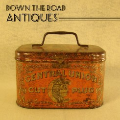Central Union Cut Plug Tobacco Advertising Tin