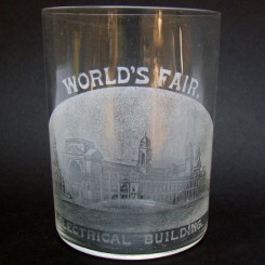 World's Fair Drinking Glass Souvenir - Electrical Building